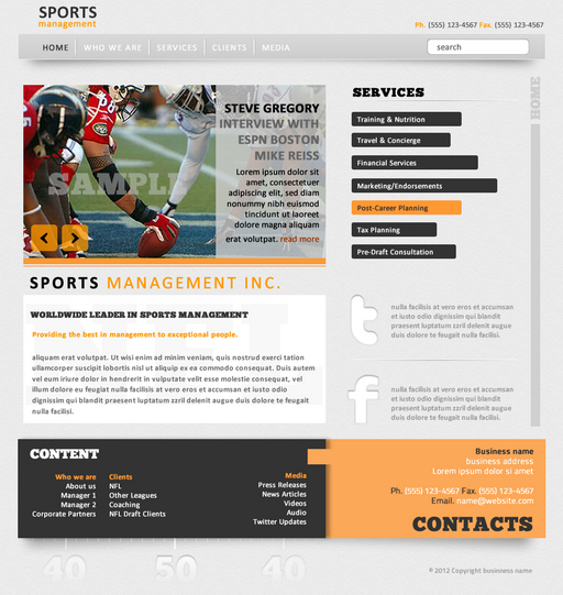Sports Management best website sample