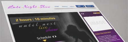 Late Night Show Video PNG / PSD Website Template