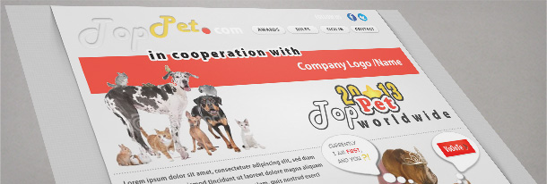 top pets web site template